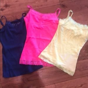Set of 3 girls justice camisole size 10